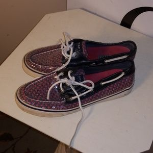 Red White Blue Sequin Sperry's 7m